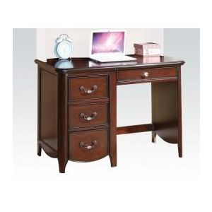 Cecilie Cherry/ Light Pink PU Desk