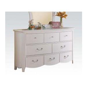Cecilie White/ Light Pink PU Dresser