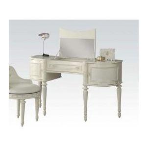 Dorothy Ivory/ Pearl White PU Desk