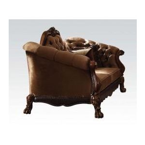 DRESDEN GOLDEN BROWN VELVET LOVESEAT