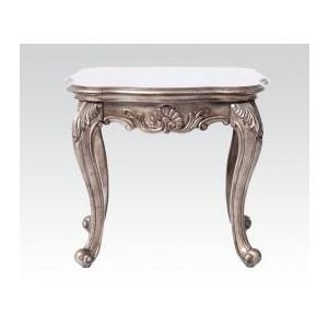 CHANTELLE ANTIQUE PLATINUM END TABLE