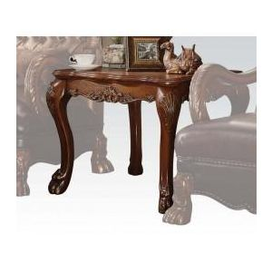 DRESDEN GOLDEN BROWN VELVET END TABLE
