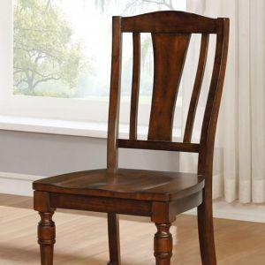 Griselda Brown Cherry Table Chair(2PK)