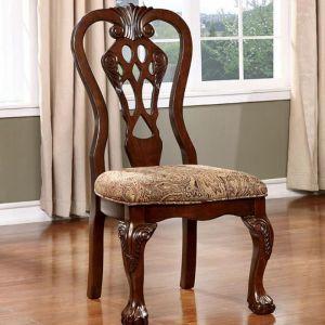 Elana Brown Cherry Table Chair(2PK)