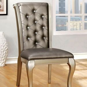 Amina Champagne Table Chair(2PK)