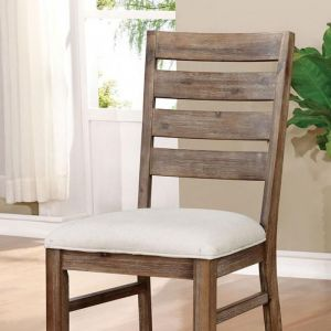 Lidgerwood Natural Tone White Table Chair(2PK)