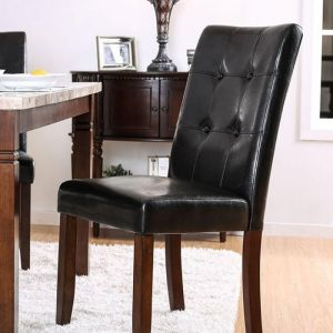 Marstone Brown Cherry Black Table Chair(2PK)