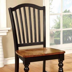 Mayville Black Antique Oak Table Chair(2PK)