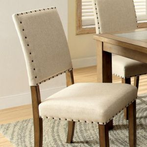 Melston I Natural Tone Beige Table Chair(2PK)
