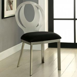 Orla Silver Black Table Chair(2PK)