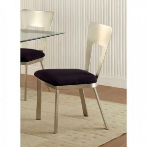 Nova Silver Black Table Chair(2PK)