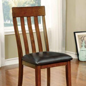 Foxville Cherry Espresso Table Chair(2PK)