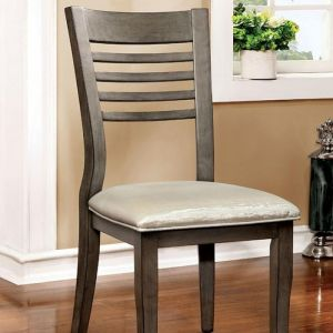 Dwight III Gray Silver Table Chair(2PK)