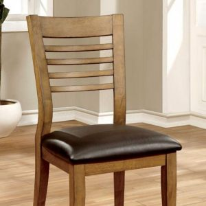 Dwight II Natural Tone Espresso Table Chair(2PK)