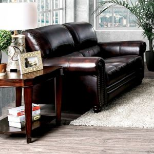 Edmont Brown Loveseat