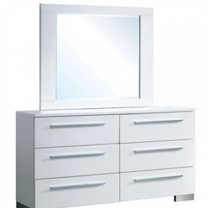 Clementine Glossy White Dresser