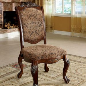 Cromwell Antique Cherry Beige Table Chair(2PK)