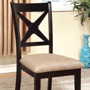 Liberta Black Beige Table Chair(2PK)