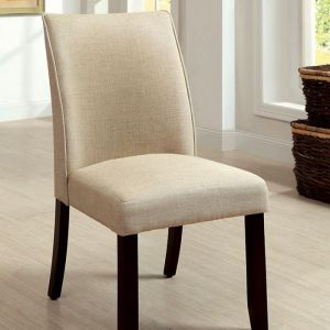 Cimma Espresso Ivory Table Chair(2PK)