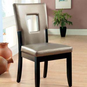 Evant I Black Silver Table Chair(2PK)