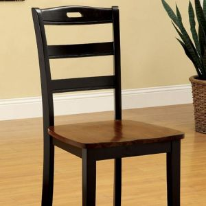 Johnstown Antique Oak Black Table Chair(2PK)