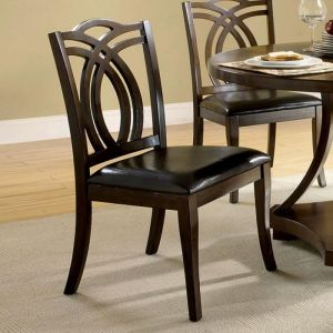 Keukenhof Dark Walnut Table Chair(2PK)