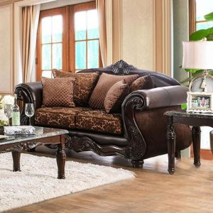 Elpis Brown Espresso Loveseat