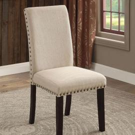 Dodson I Black Beige Table Chair(2PK)